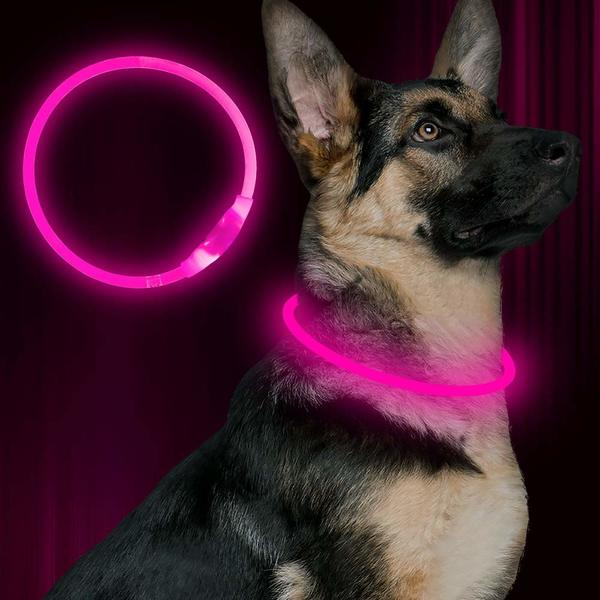 Pink BSEEN LED Dog Collar is one of the cheapest options on LED collars market.