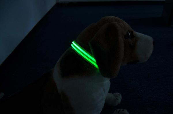 Moco Best Light Up Rechargeable LED Nylon Dog Collar