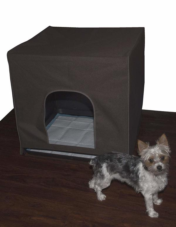 Happy dog after using Pet Gear Pro Pawty Potty Training system.