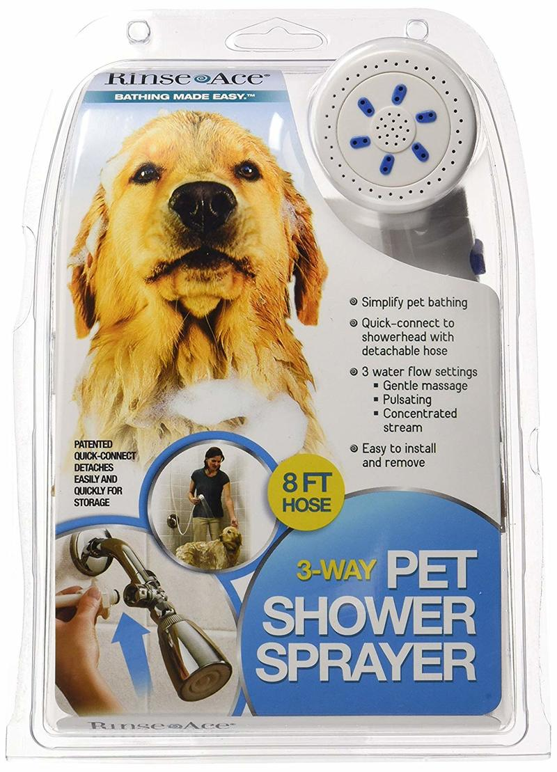 Rince ace 3 dog shower attachment packaging.