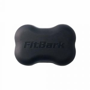 Fitbark dog fitness tracker in black color.