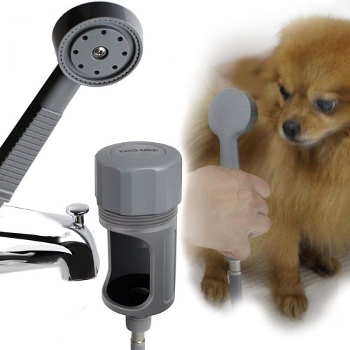 YOO.MEE Pets Shower Attachment is used to wash your dog.