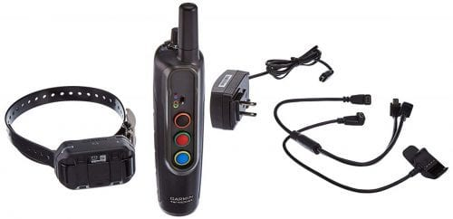 Garmin Pro 70 Dog Training System with everything included in the box: collar, remote and charger.