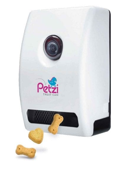 petzi dog camera is giving treats