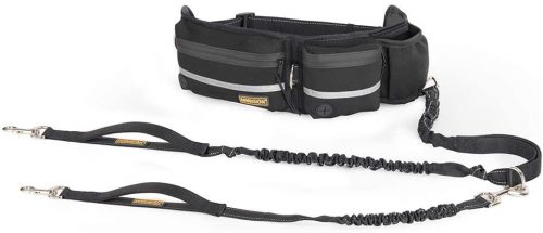 FURRY BUDDY hands free leash available in black color.