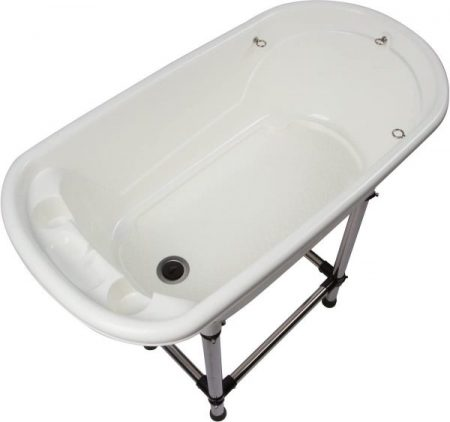 Flying Pig Dog Grooming Portable Bath Tub view from the top.