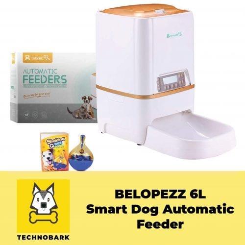 Belopezz 6 litres smart automatic feeder with package box and dog toy.