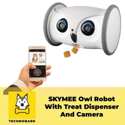 SKYMEE Owl Robot with camera with treat dispenser and remote control via app.