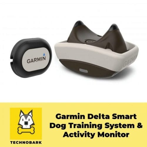 Garmin Delta Smart dog activity tracker in black and white color.
