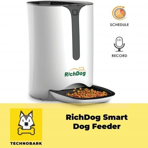 RichDog smart dog feeder with automatic schedule and record.