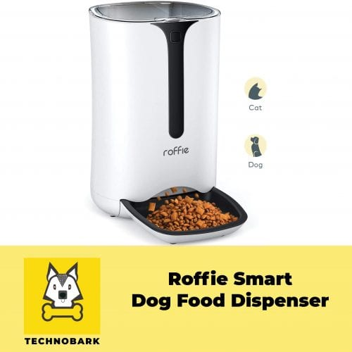 Roffie 7L smart and automatic food dispenser for dogs and cats.