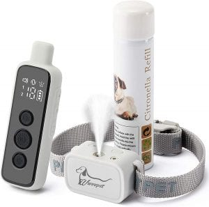 WWVVPET Citronella Spray Collar with Remote