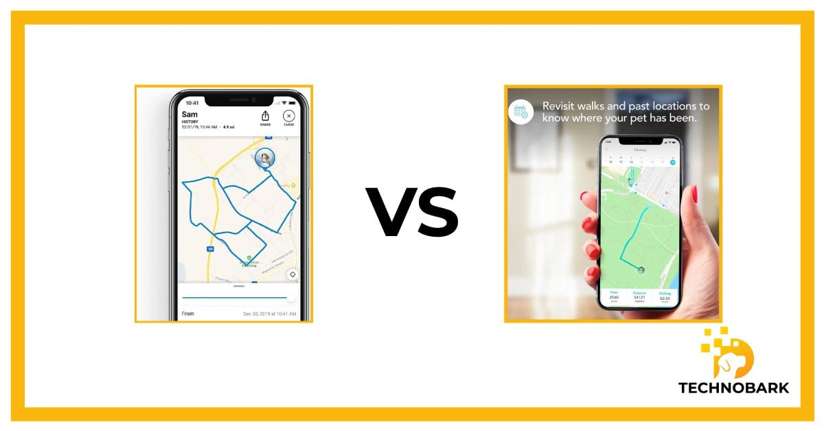 Tractive app vs. Findster Duo+ App