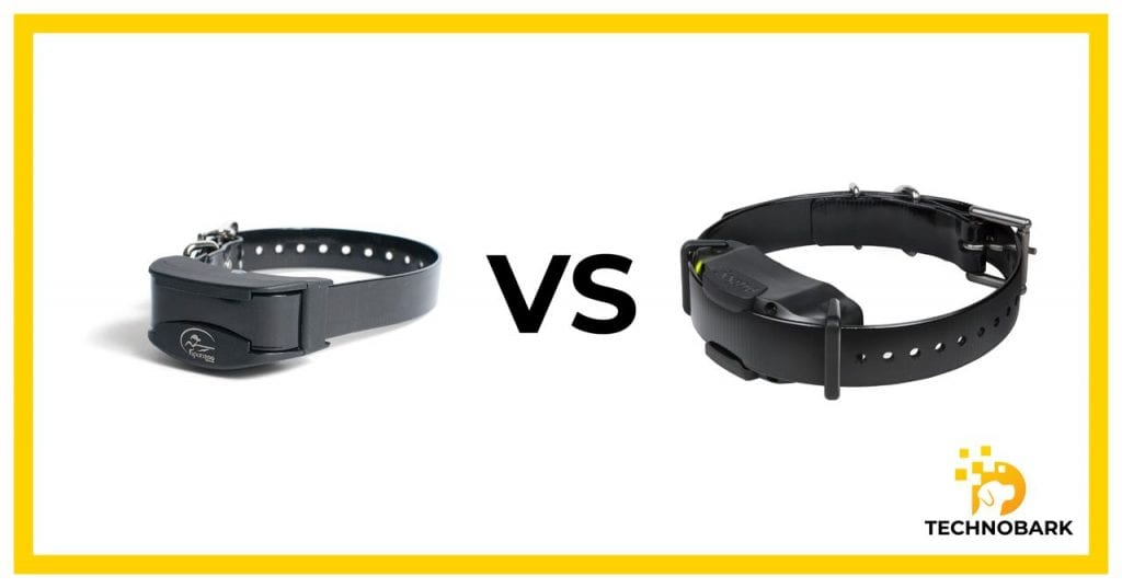 SportDOG collar design vs. Dogtra collae