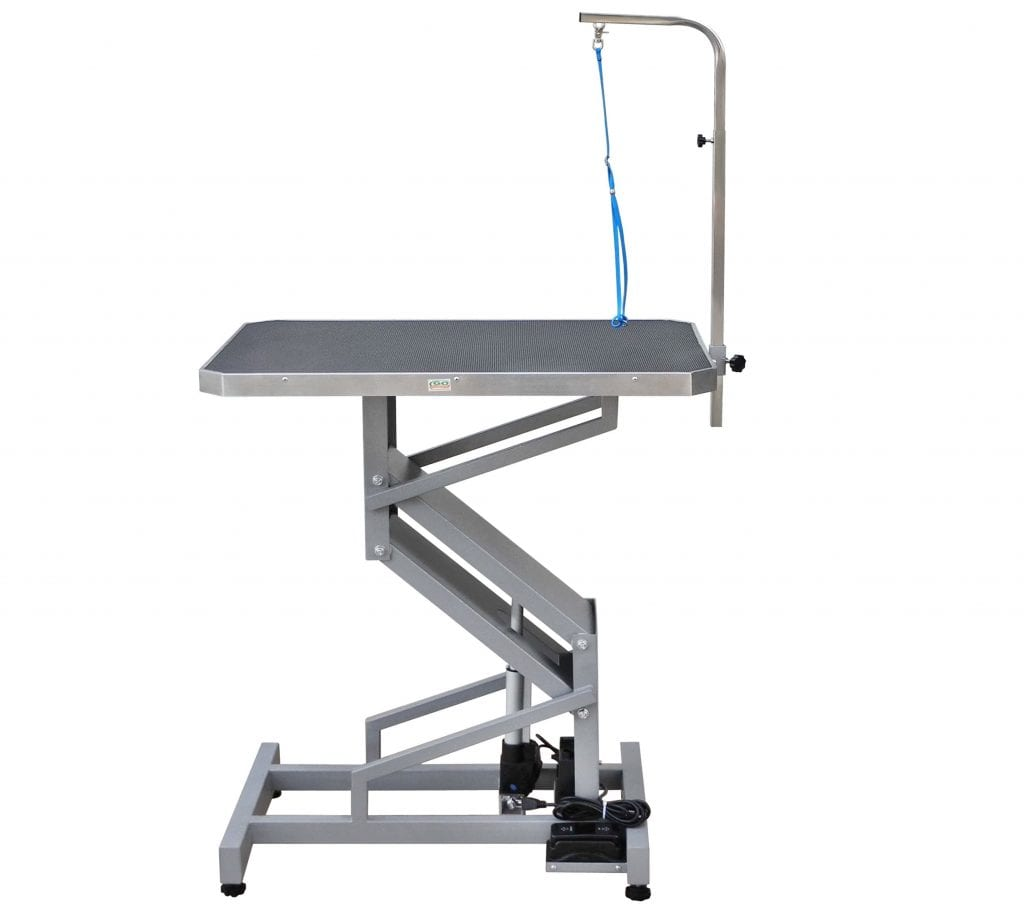 Go Pet Club Electronic Motor Z-Lift Grooming Table with arm