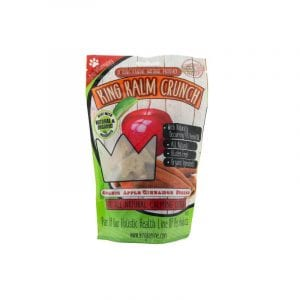King Kalm CBD treats for dog with crunch apple and cinnamon flavour.