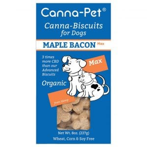 Maple bacon canna-biscuites with CBD from Canna-pet.