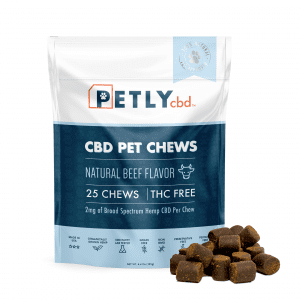 CBD chews for dogs from PETLY.