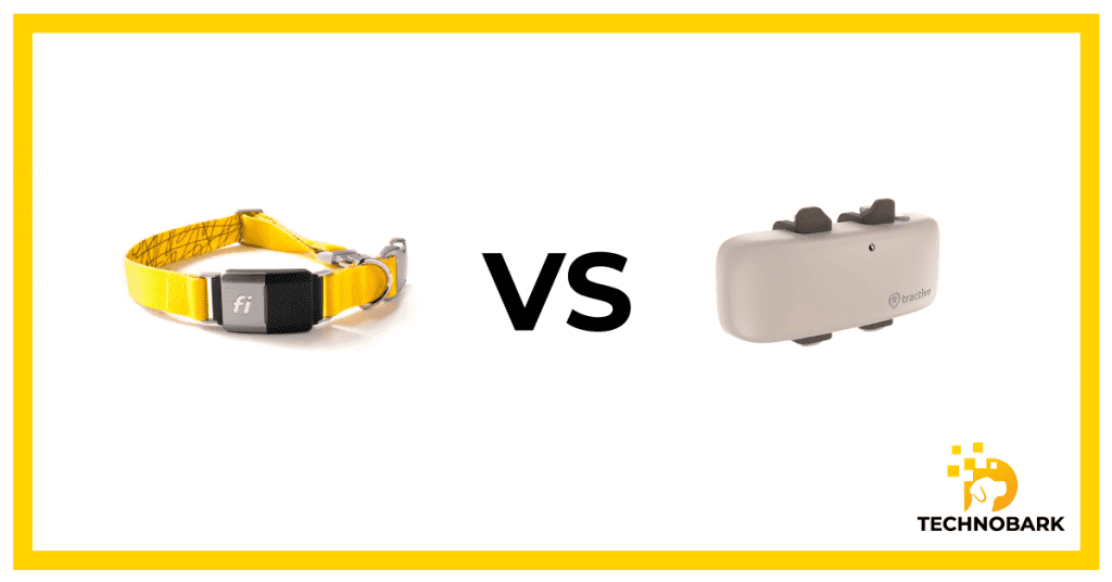Design comparison between Fi collar and Tractive