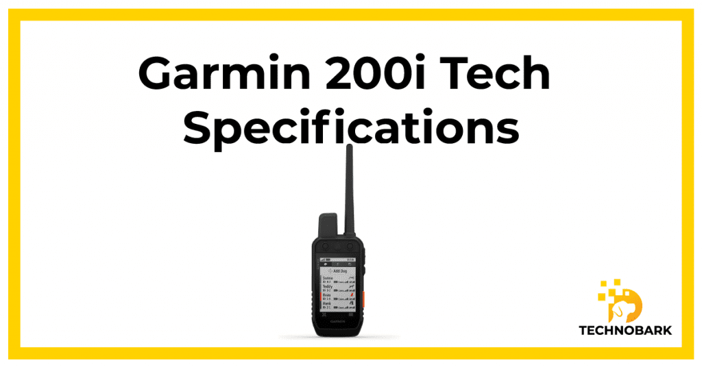 Garmin 200i Technical Specifications