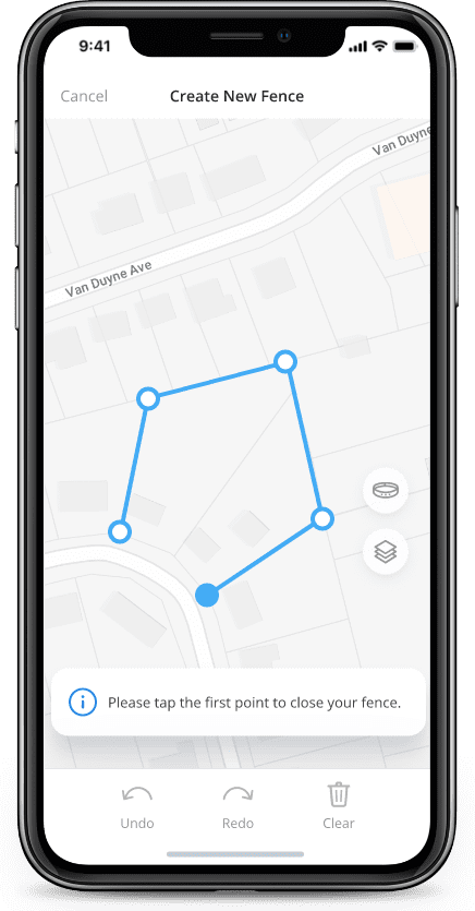 Creating a virtual fence in Halo collar app
