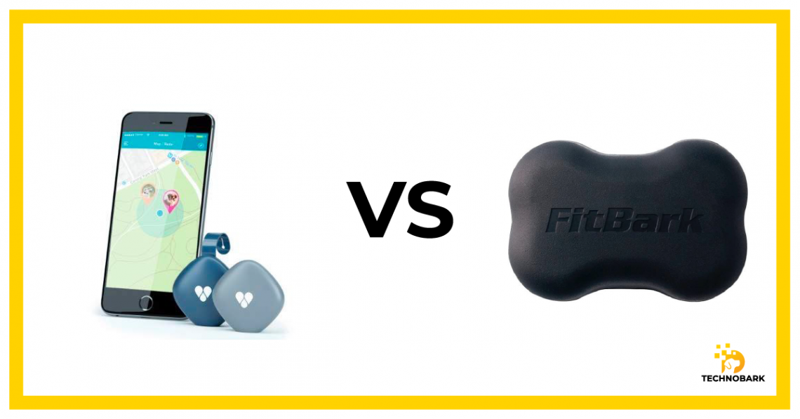 Findster Duo (on the left) VS. Fitbark 2 (on the right)
