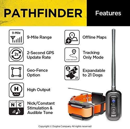 Dogtra Pathfinder GPS e-colar features